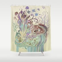 Thistle_tangle Shower Curtain