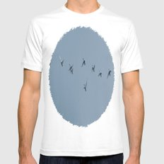 Flock White SMALL Mens Fitted Tee