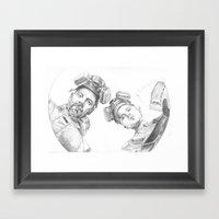 Breaking Barrel Framed Art Print