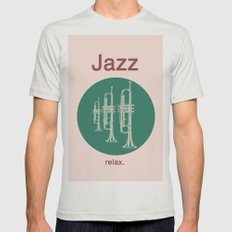 Jazz Relax Mens Fitted Tee Silver SMALL