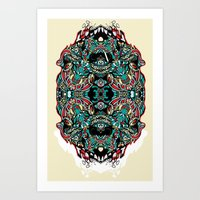 Skull Cathedral Art Print