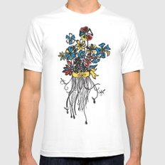 Bouquet - Skal White Mens Fitted Tee SMALL