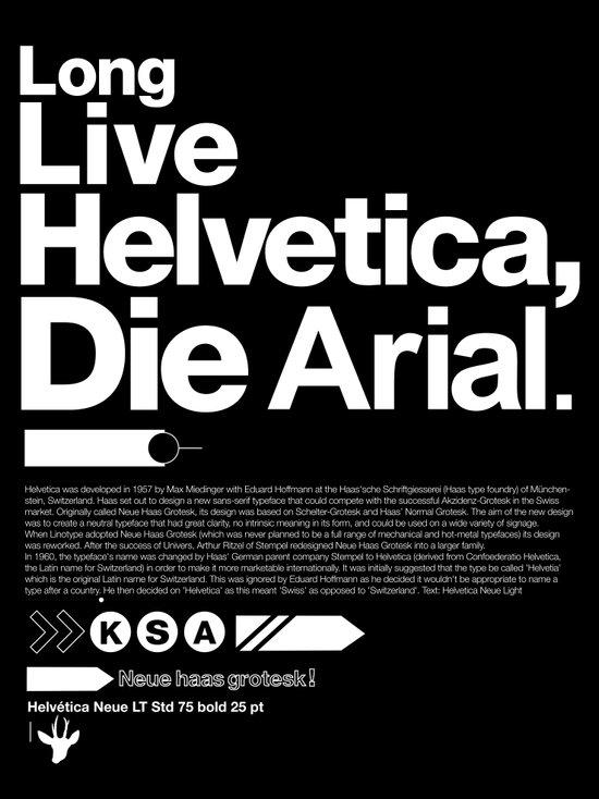Long Live Helvetica Art Print
