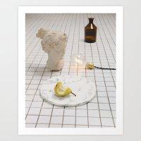 Marble Pear  Art Print