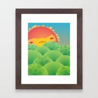 Sunlit Hills Framed Art Print