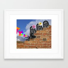 Only Two Flowers Framed Art Print
