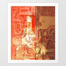 electronic buddha Art Print
