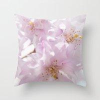 Spring Cherry Throw Pillow