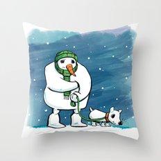 Hurry Up Throw Pillow