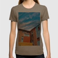 Colors At Caminito Womens Fitted Tee Tri-Coffee SMALL