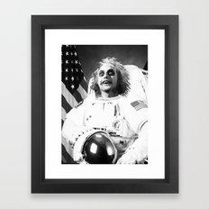 Astronaut Beetle Juice Framed Art Print