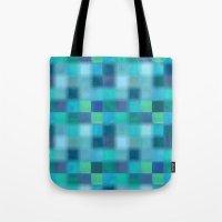 Blue Squared Tote Bag