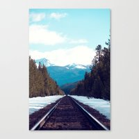 Train To Mountains Canvas Print