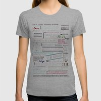 Thoughts of the Day Womens Fitted Tee Athletic Grey SMALL