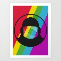 Retronaut. Art Print