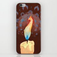 iPhone & iPod Skin featuring Phoenix Flame by Jelly and Paul
