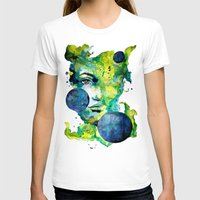 Evelin Green (Set) By Ca… Womens Fitted Tee White SMALL