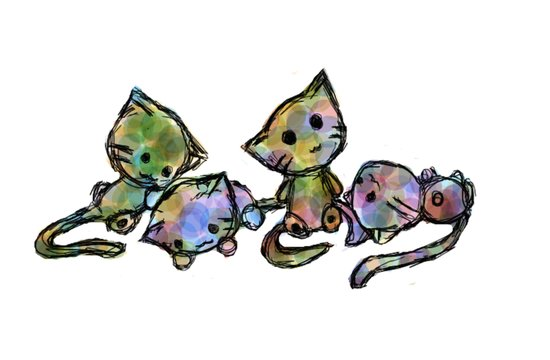 Colorful Kittens Art Print