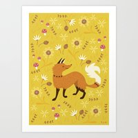 Cute As A Fox Art Print