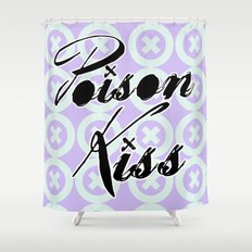 POISON KISS LOGO - LIGHT VIOLET THEME Shower Curtain