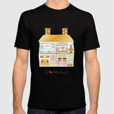I {❤} Dollhouse SMALL Black Mens Fitted Tee