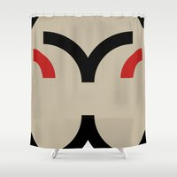 face 8 Shower Curtain