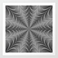 Silver Web Art Print