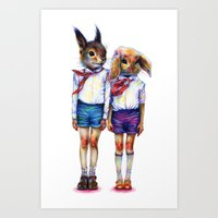 Shurik and Lyosha Art Print