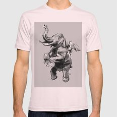 Fly Heavy Mens Fitted Tee Light Pink SMALL