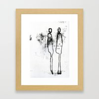 who are you? VII Framed Art Print