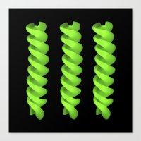 green pasta IV Canvas Print