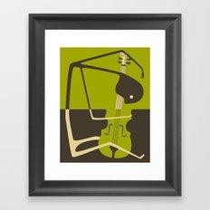 Blues' Cello Framed Art Print