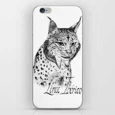 Iberian Lynx B/N iPhone & iPod Skin