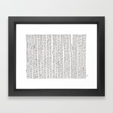 Lost In Stripes Framed Art Print
