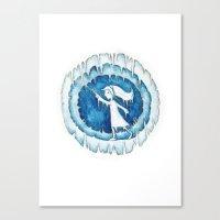 Frozen Girl Plays Yo-Yo Canvas Print