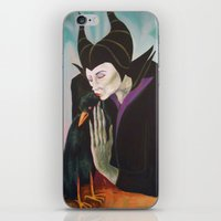 Sorceress With Raven iPhone & iPod Skin