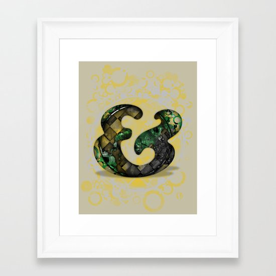 Ampersand Series - Cooper Std Typeface Framed Art Print