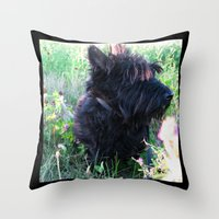 Miss Candy Throw Pillow