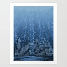 Submerged City Art Print