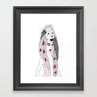 Leo / 12 Signs of the Zodiac Framed Art Print