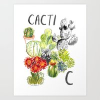 C Is For Cacti Art Print