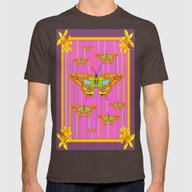 T-shirt featuring Puce-Gold Pink  Floral A… by SharlesArt