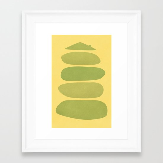 A Home in Repose Framed Art Print