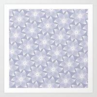Pale Flower Pattern Art Print