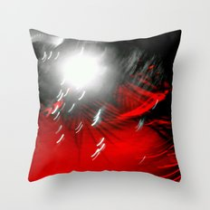 Red Flash with a Little Bit of You Throw Pillow
