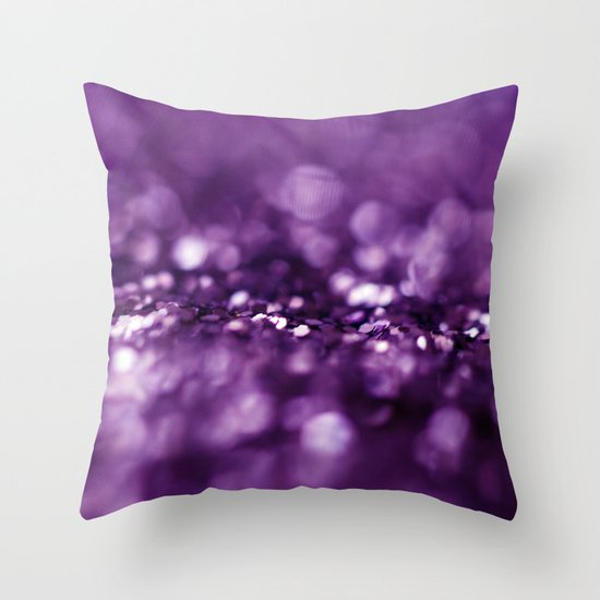 Dreaming in Purple Throw Pillow