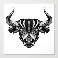 Signs of the Zodiac - Taurus Canvas Print