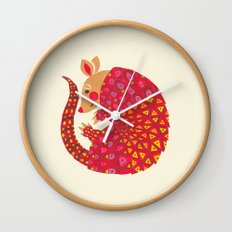 The Ethnic Armadillo Wall Clock