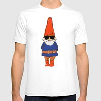 JerGnome Mens Fitted Tee White SMALL
