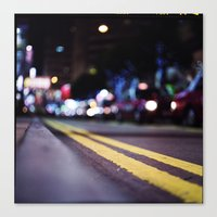 Hong Kong Street Lights Canvas Print